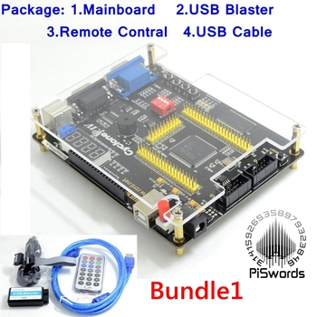 ALTERA Cyclone IV EP4CE6 FPGA Kit de desarrollo Altera EP4CE NIOSII FPGA tablero y Blaster USB controlador infrarrojo de descarga