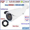1080 p ip câmera night vision onvif 2mp câmera de cctv ao ar livre vigilância sony imx323 megapixels 3mp lente hd, IR-CUT, P2P, suporte
