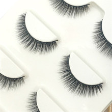 New 3Pair/Lot Hot Sale Makeup Fake Eyelashes Lengthening Natural False Eyelashes Fashion Eye Lashes Hand Made Extensions Lashes
