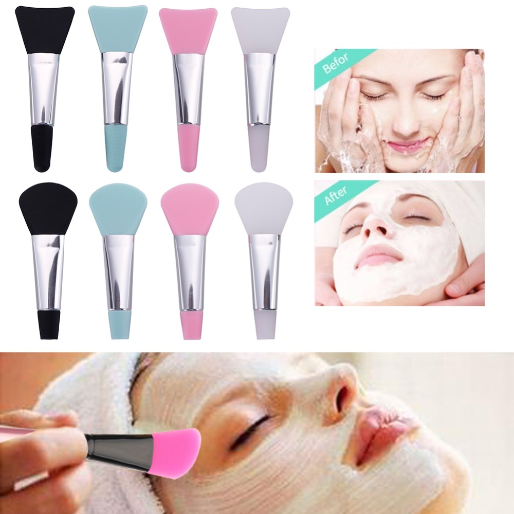 1Pc Colorful Professional DIY Silicone Lip Use Soft Brush Applicator Cosmetic Makeup Brush Tool Accessories New Arrival #289637(China)