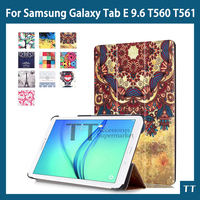 T560 Case Fashion Top Quality PU Leather Case Cover For Samsung Galaxy Tab E 9 6