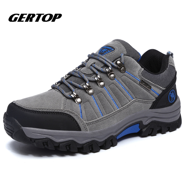 b1fda7425f5 US $57.18 |Aliexpress.com : Buy Big Size 39 47 Men Outdoor Shoes Hiking  Shoes Waterproof Non slip lace up Slip Resistant Shoes GE062216 from  Reliable ...