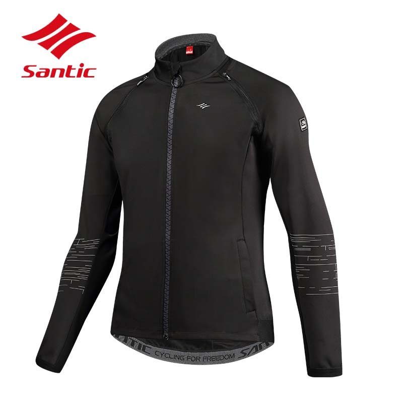 Santic Cycling Jackets Men Removable Sleeves Autumn Winter Bike Jackets Outdoor Sports Warm Thermal Bicycle Jersey Cycle Clothes santic cycling jersey kit long sleeve warm bicycle bike clothes outdoor sports quick dry seamless thermal underwear skinsuit