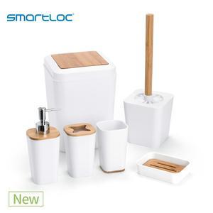 Image 1 - 6 Set smartloc plastik banyo aksesuarları seti diş fırçası tutucu diş macunu dağıtıcı kılıfı sabun kutusu tuvalet duş depolama