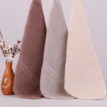 Фотография Cotton hand face towel solid colors wide border super water absorbent big hand towel  thicker towel gift towel