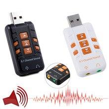 USB внешний 3D многоканальный виртуальный Аудио Звуковая карта адаптера для ПК компьютер xXM