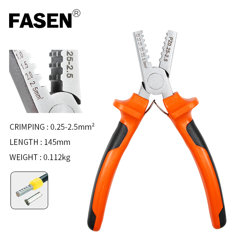 0 5 35mm germany style small crimping pliers for Cable End Sleeves tube terminals clamp electrical Bootlace VE Crimping Tools in Pliers from Tools