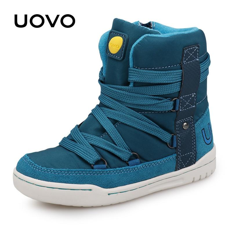 UOVO Marca 2019 Niños Zapatos de invierno Moda Niños Zapatos - Zapatos de niños - foto 4