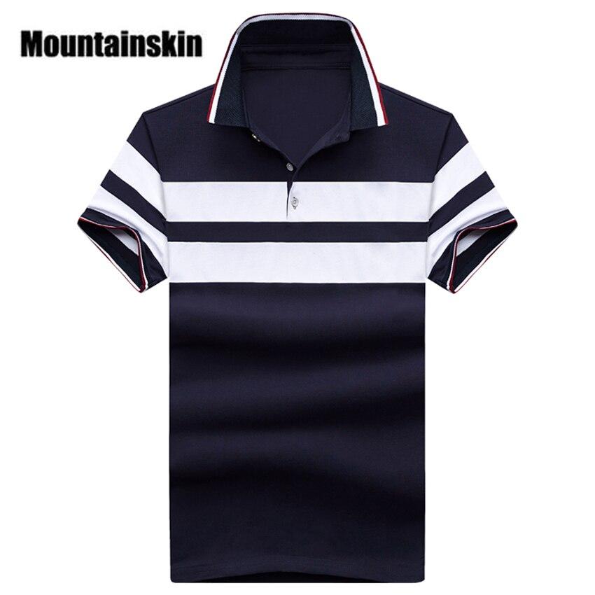 Mountainskin 2018 Summer Striped Men's   Polos   Cotton Short Sleeve Men   Polo   Shirts Casual Turndown Collar Male   Polos   Boys SA247