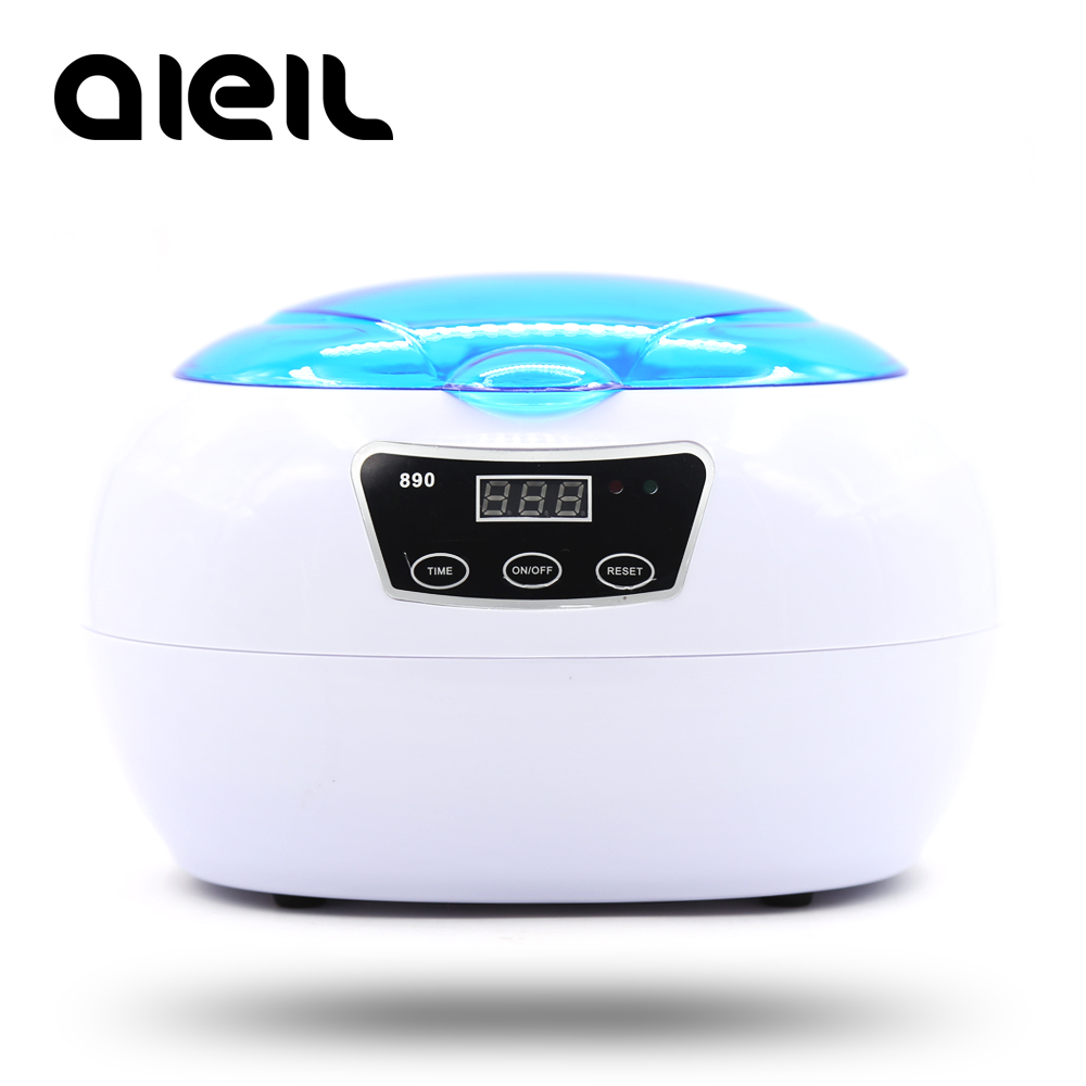 Disinfection Sterilizer Box Ultrasonic Cleaner Ultrasonic Washing Money Coins Jewelry Pedicure Nail Art Tools Vacuum Cleaner