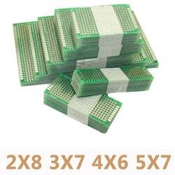 20 قطعة/الوحدة 5x7 4x6 3x7 2x8 سنتيمتر ضعف الجانب نموذج diy العالمي الدوائر المطبوعة مجلس الكلور protoboard لاردوينو
