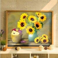 Diamond DIY Embroidery Meian 3D 5D Cross Stitch Kit Sunflower Handicraft And Art Needlework 3d Square