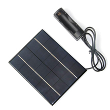 3.5W 5V Solar Panel With DC35MM Base For 18650 Battery Solar Cell For 18650 Rechargeable Battery Charging Directly NEW