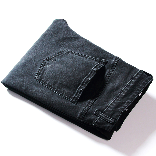 2018  New Mens Jeans Classic Trousers Black Designer Fashionable Jeans Skinny Casual Jeans High Quality Men's Slim Fit Pants