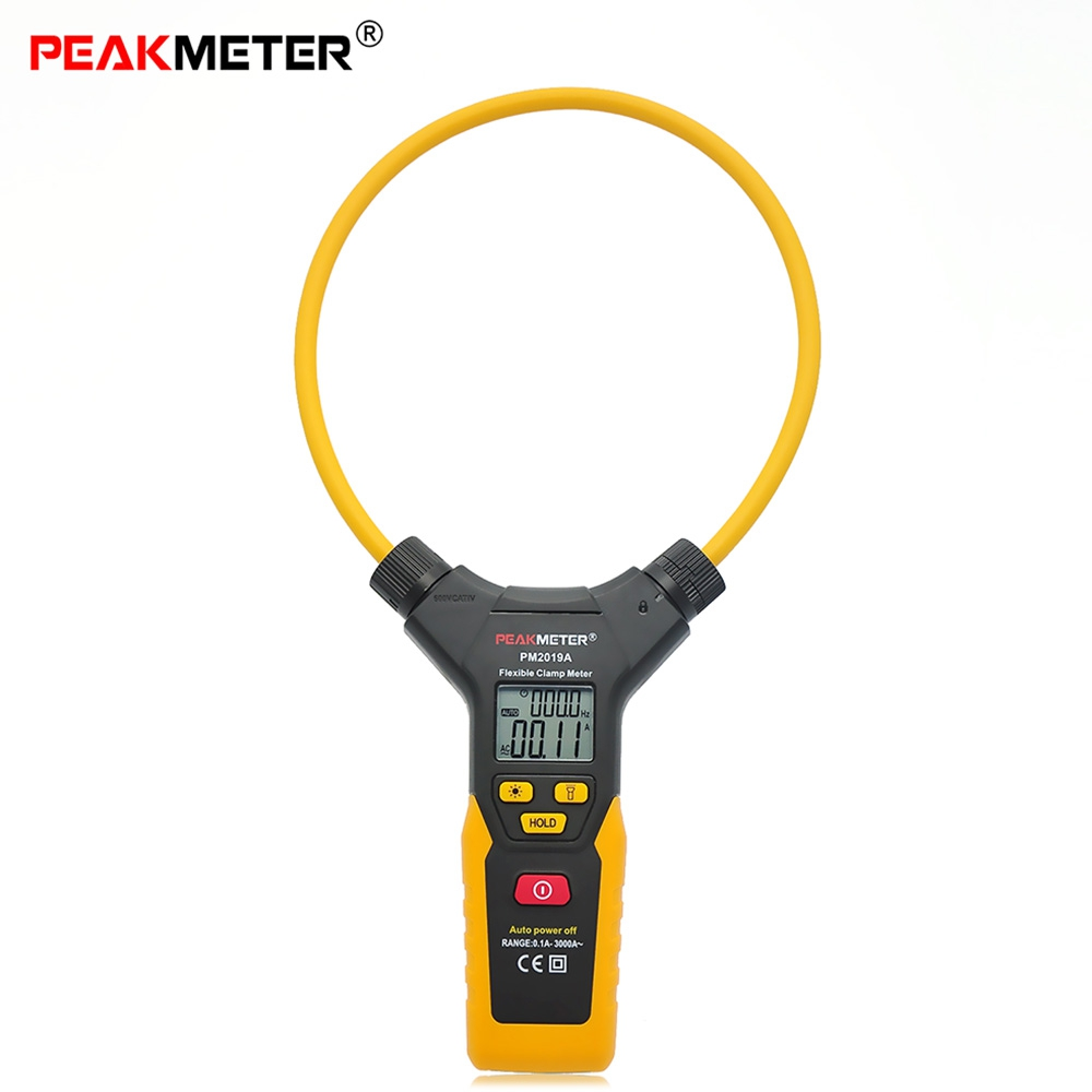 High Precision PEAKMETER PM2019A Handheld Digital Flexible Clamp Meter Multimeter AC Current Frequency  цены