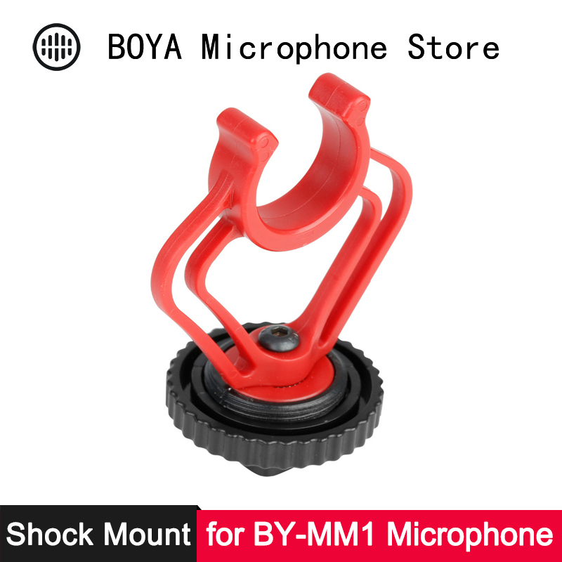 BOYA Shoe Anti-shock Shock Mount For BY-MM1 Shotgun Microphone On DSLR Camera Mic Stand Hotshoe Shockmount Microphone Accesories