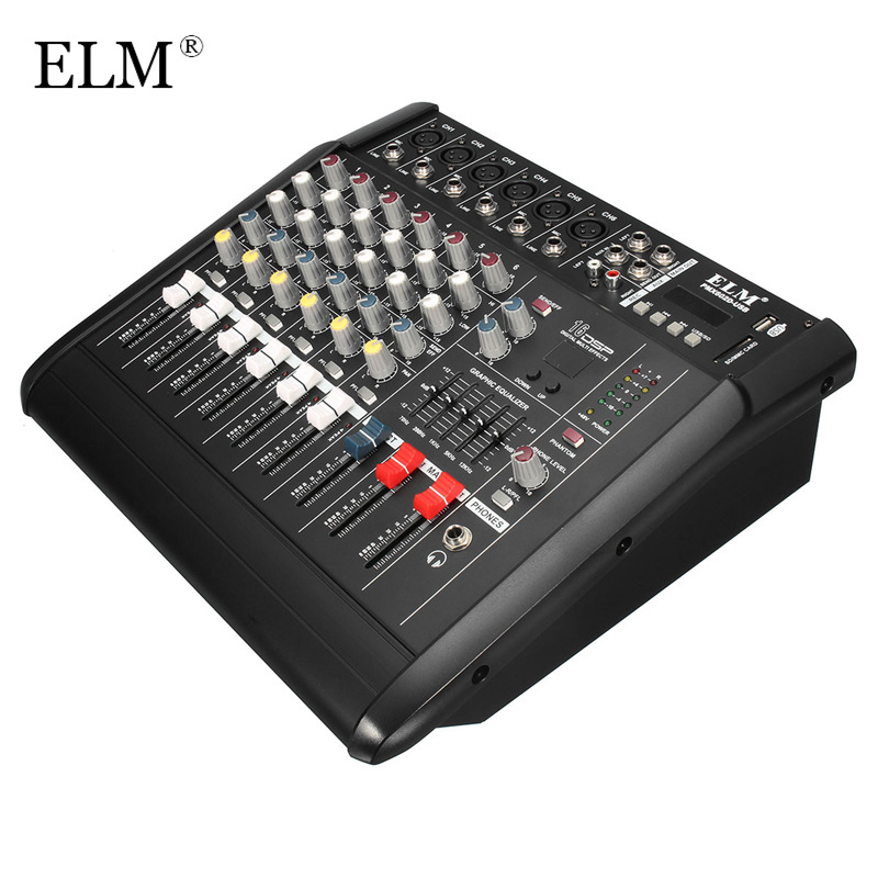 buy elm 6 channel audio mixing console professional karaoke microphone digital. Black Bedroom Furniture Sets. Home Design Ideas