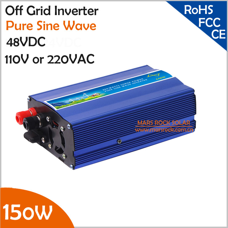 цена на 150W 48VDC off grid pure sine wave inverter, UPS inverter suitable for small solar or wind power system