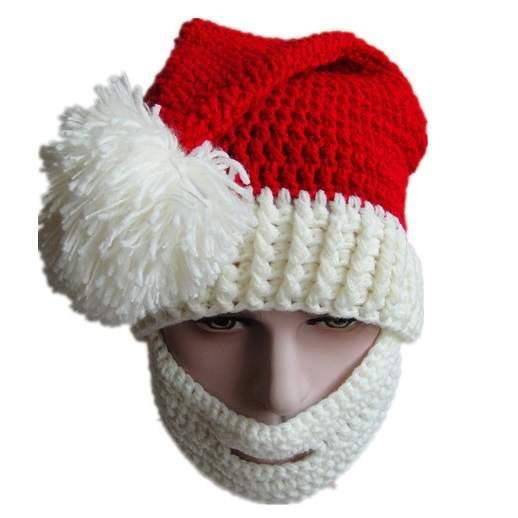 5c4064c42d6 winter Hats knit Santa Claus beanie hats men skull face mask beard hat for man  women
