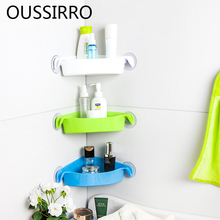 Creative Corner Bathroom Storage Rack Shower Wall Shelf Organizer Plastic Strong Wall-mounted Suction Cup Home Kitchen Shelves thrust angular contact ball bearings for ball screw support 60tac03dt85sumpn5d