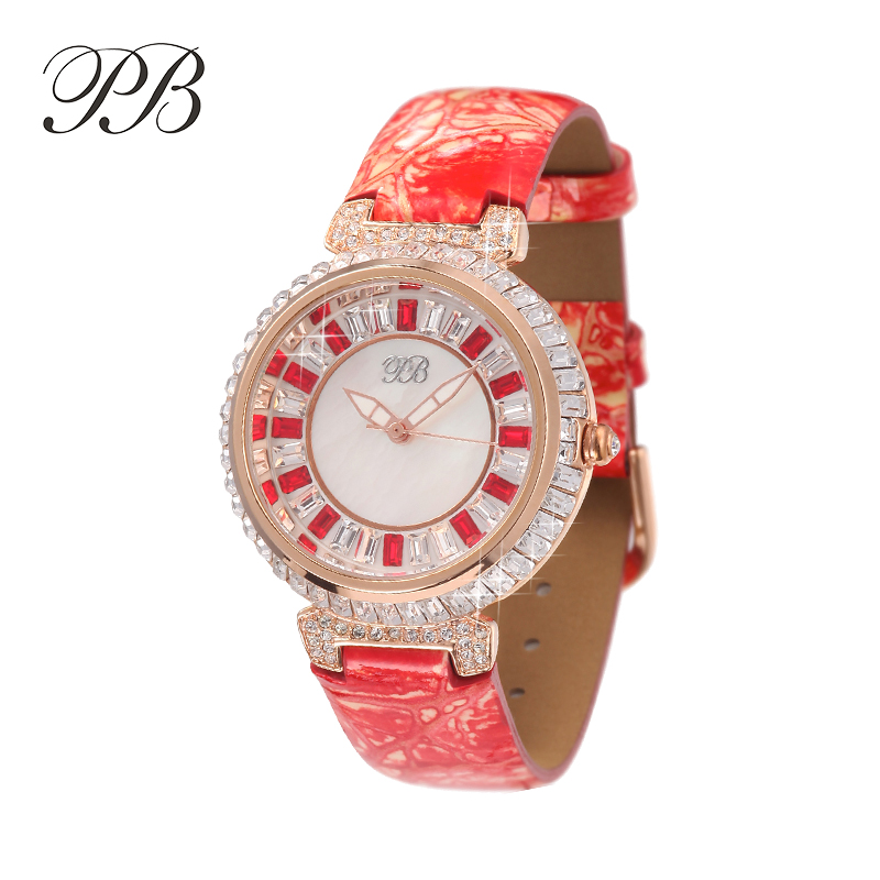Luxury Ladies Fashion Quartz Watch Women Rhinestone Leather Casual Dress Women's Watch Crystal reloje mujer 2017 montre femme tezer ladies fashion quartz watch women leather casual dress watches rose gold crystal relojes mujer montre femme ab2004
