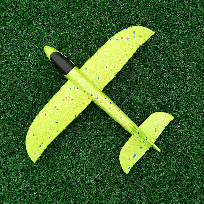 35cm DIY Kids Toys Hand Throw Flying Glider Planes Foam Aeroplane Model Glow In The Dark Flying Glider Plane Toys For Children