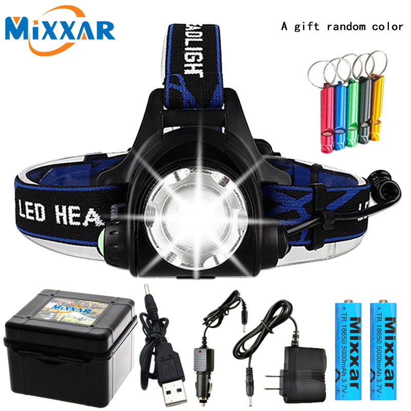Dropshipping LED Head Light Led Headlamp V6/L2/T6 Zoom Headlight Torch Flashlight Head Lamp 2*18650 Battery By Fishing Lanterna