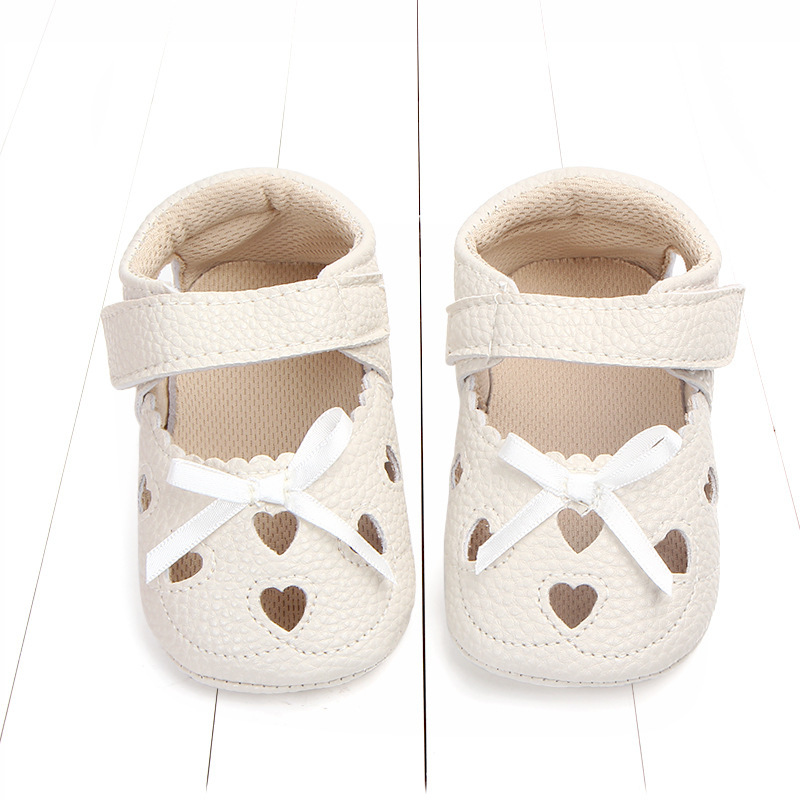 Newborn Baby Girl Heart Autumn Lace Leopard First Walker Sneakers Shoes PU Leather Shoes Toddler Classic Casual Shoes 0 18M in First Walkers from Mother Kids