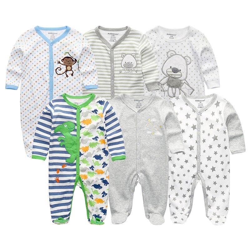 Noworodków Dziewczynek i Chłopców Pajacyki 6 Sztuk / partia - Odzież dla niemowląt - Zdjęcie 2