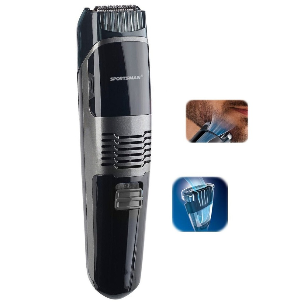 Professional Vacuum beard trimmer hair clipper for men trimer mustache shaping tool beard shaving shaper machine grooming set