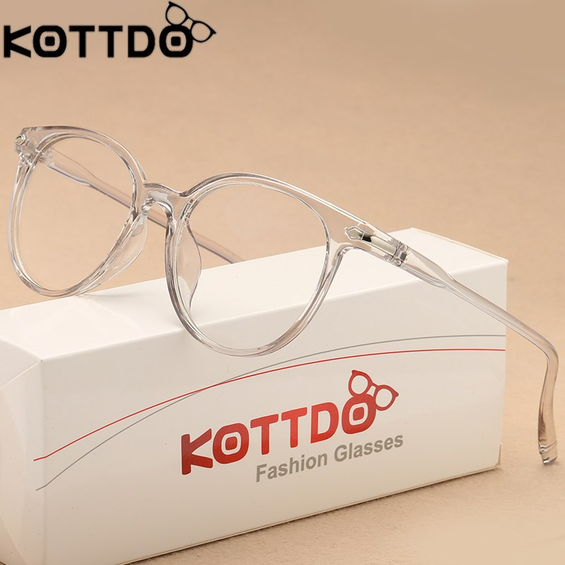 KOTTDO Fashion Transparent Glasses Optical Glasses Frames For Women Cat Eye Glasses Frame Men Eyeglasses Eyewear Frame  Oculos