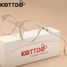 46c1f7145 KOTTDO Forma Transparente Óculos de Armações de Óculos Óptica Para As  Mulheres Olho de Gato Óculos de Armação Homens Óculos Ócul.