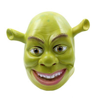 Shrek Mask full head overhead Latex film masks Halloween Props Adult Animal Masquerade Party Rubber Silicone Green Cosplay