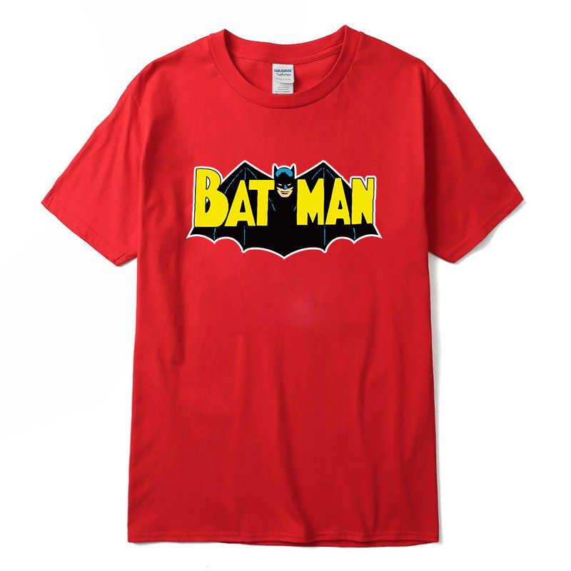 Degli uomini di Casual di Alta Qualità 100% Cotone Divertente Batman Stampa t-shirt Manica Corta da uomo t shirt Cool t-shirt Da Uomo divertente t-shirt NEW