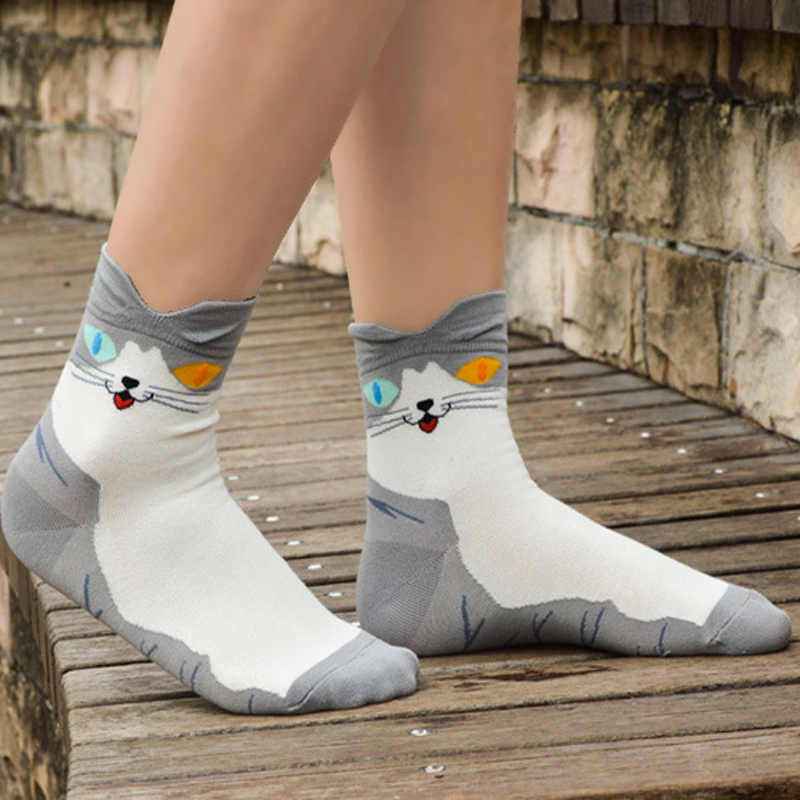 3Pair Fashion Cartoon Colorful Socks 3D Print Socks Art Cool Men Dress Socks Funny Male 3D Short Sock Lot Meias Calcetines
