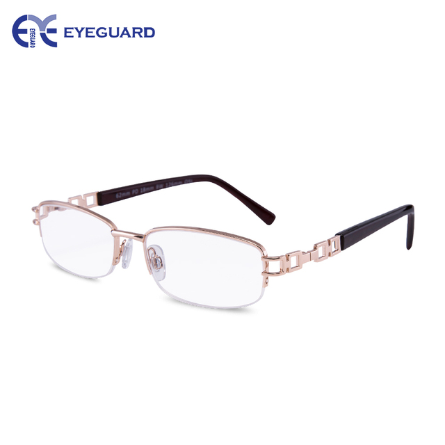 EYEGUARD Metal Half Rim Frames and crystal clear Women Reading Glasses High  Quality Readers With Case Fashion Design for Ladies cb909b0400