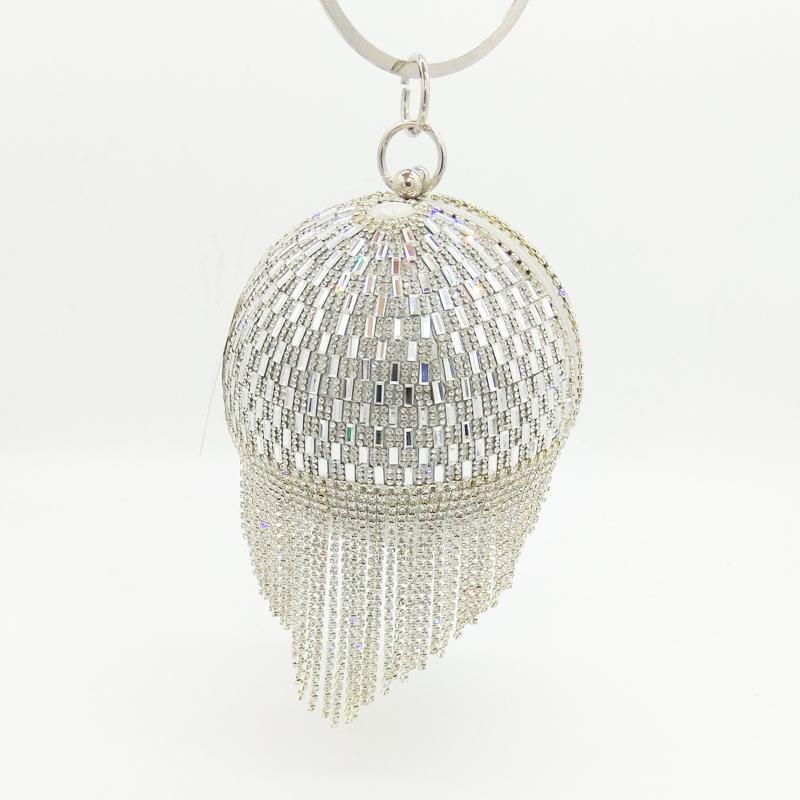 Golden Diamond Tassel Party Clutches