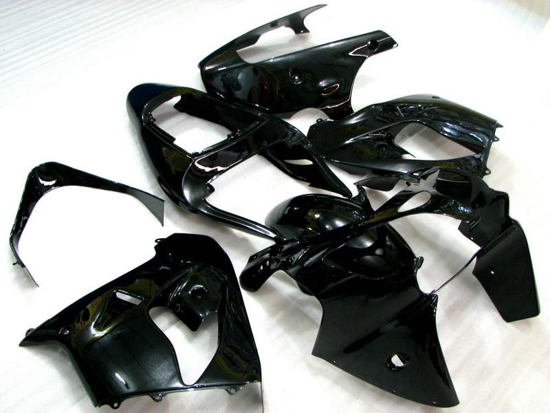 Kit de caronnage complet en plastique ABS   Pour Kawasaki ZX9R 2002 2003 noir brillant, réparation de corps, pièces de faitout de route, Ninja 636 ZX 9R 02 03 YH03