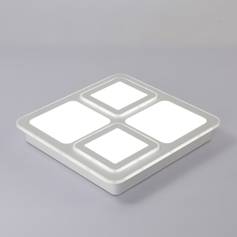 Modern Fixtures Square Ceiling Light Acrylic White Iron Bedroom Living Room Remote Control Led Lamp Home Decor Lighting 110-240V 24w modern led acrylic lamp white iron living room bedroom ceiling lights decoration fixtures home lighting luminaire 110 240v
