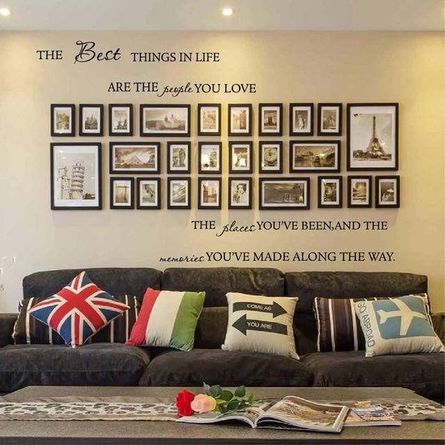 Liebe Familie Quotes Vinyl Wandaufkleber Menschen Ort Erinnerungen Sprüche  Home Wohnzimmer Wandkunst Aufkleber Dekoration