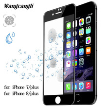 wangcangli for iphone 7 glass 3D full cover screen protector on x tempered 6 6s 8 plus film 9h