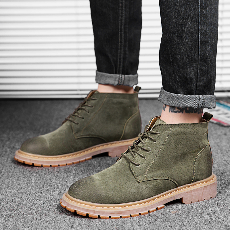 89e3112215b US $25.05 40% OFF|LettBao Men Shoes 2018 New Men Boots Timber Land Shoes  Suede Leather Boots Men Lace Up Ankle Boot Men's Chelsea Boots-in Chelsea  ...