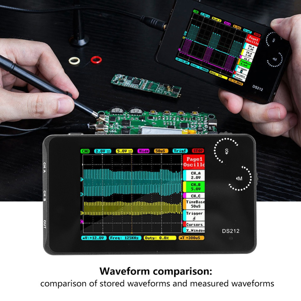 10Hz 1MHz 10Msa s Digital Portable Mini DS212 LCD Pocket sized Handheld Digital Storage Oscilloscope Thumb