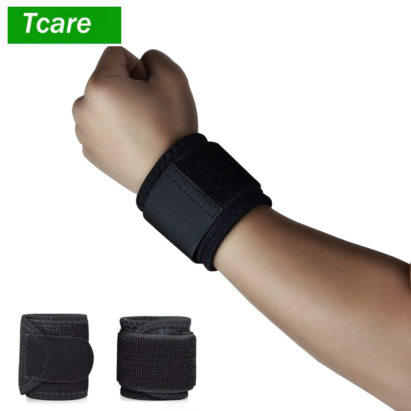 1Pair Wrist Support Brace Breathable Neoprene Wrist Brace Strap Compression Pad for Working out Wrist Pain Sprain Tendonitis