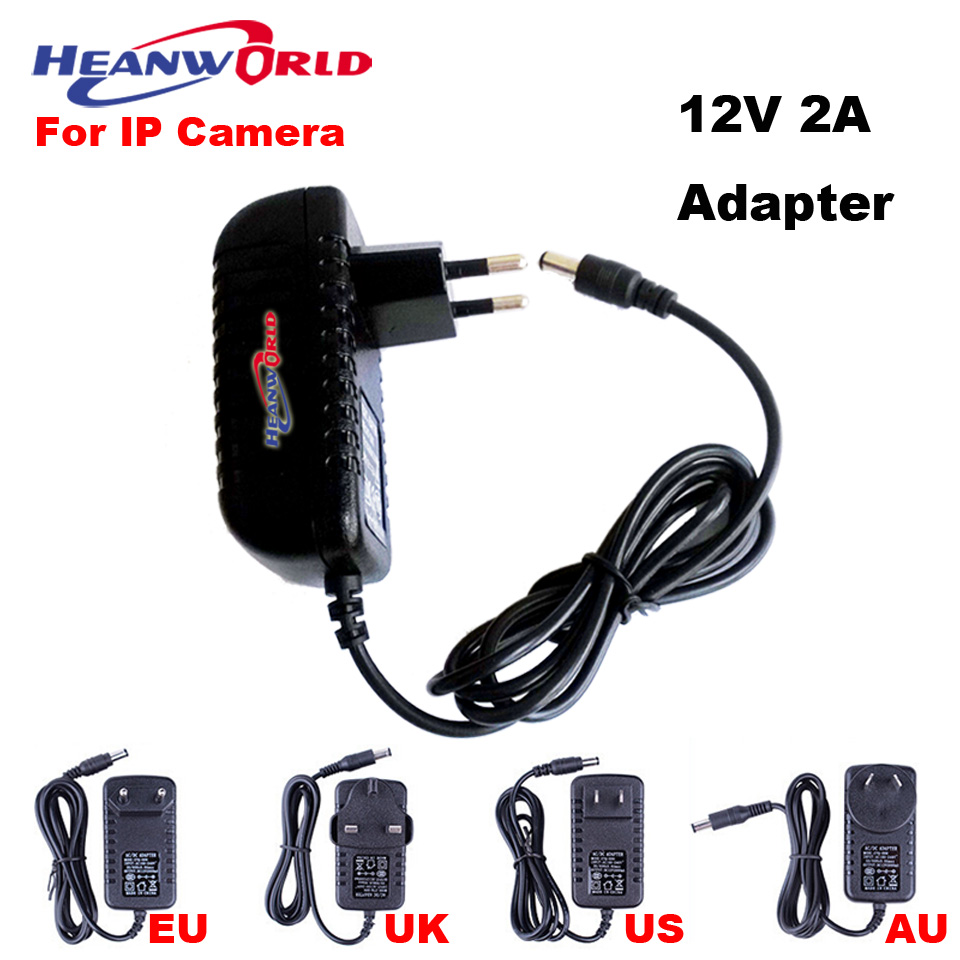 DC Adapter 12V 2A EU US UK AU plug AC 100V-240V Converter DC 12V 2A 2000mA Power Supply European Plug Hot Sale Wholesale 100pcs us eu uk au plug ac line 1 5m dc line 1 2m ac100 240v to dc 24v 1a 24w power adapter 24v1a ac adapter