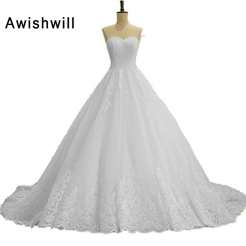 Ivory Ball Gown Wedding Dress: Aliexpress.com : Buy New Arrival White / Ivory Ball Gown