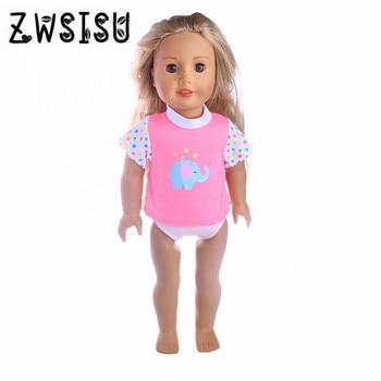 Mini muñeca de dibujos animados, camiseta para muñeca americana de 18 pulgadas, 43cm, accesorios para bebés, el mejor regalo para niños