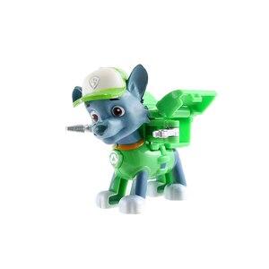 Image 4 - 6 יח\סט Paw סיירת Patrulla Canina אנימה איור פעולה דמויות גור סיירת רכב צעצוע Patroling כלבי צעצועים לילדים