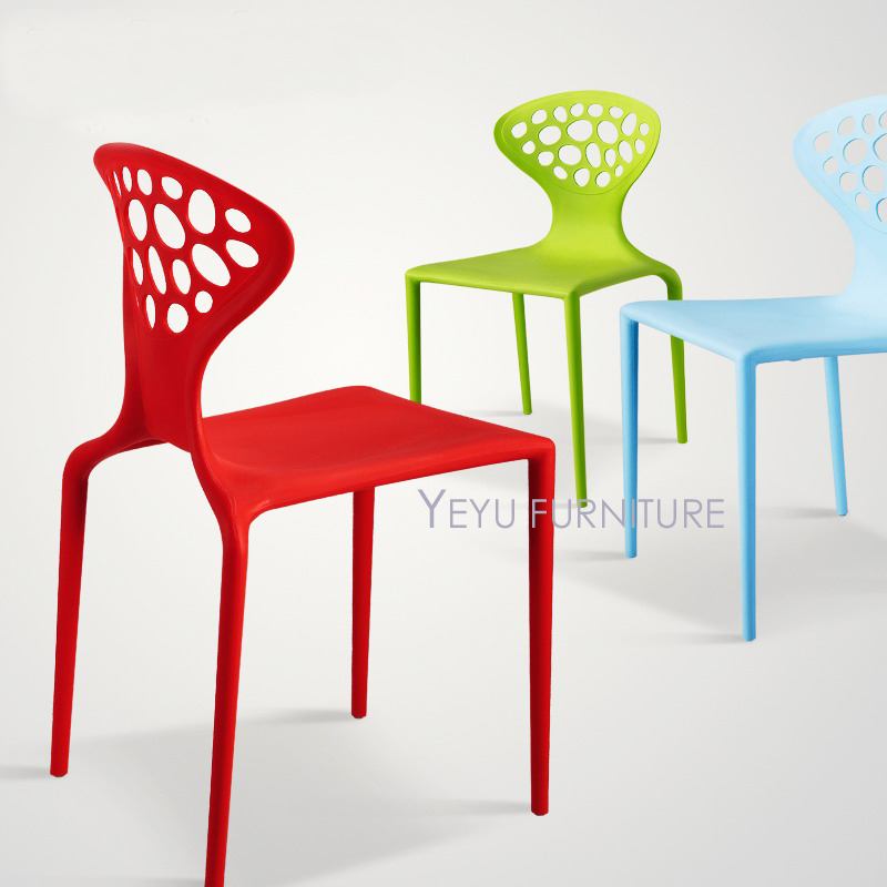 modern design stackable plastic outdoor cafe chair simple design