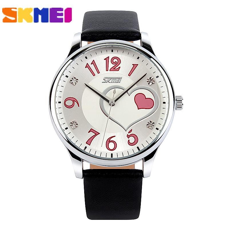 Reloj Mujer Women Dress Watch women Fashion Casual Leather Strap Watch Ladi Girls Relogio Feminino Clock  wristwatch 2016 Skmei new fashion unisex women wristwatch quartz watch sports casual silicone reloj gifts relogio feminino clock digital watch orange